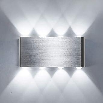 Lightess Apliques de Pared LED 8W Lámpara de Pared Interior Luz ...