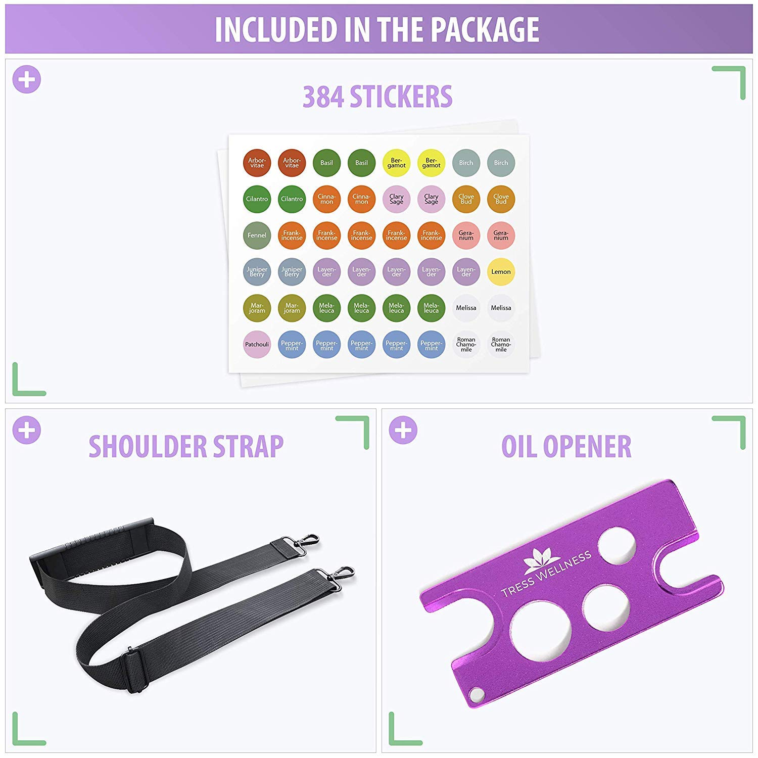 Essential Oil Storage MULTIPLE SIZES  Oil Opener  Stickers  Holds Young Living  Doterra bottles