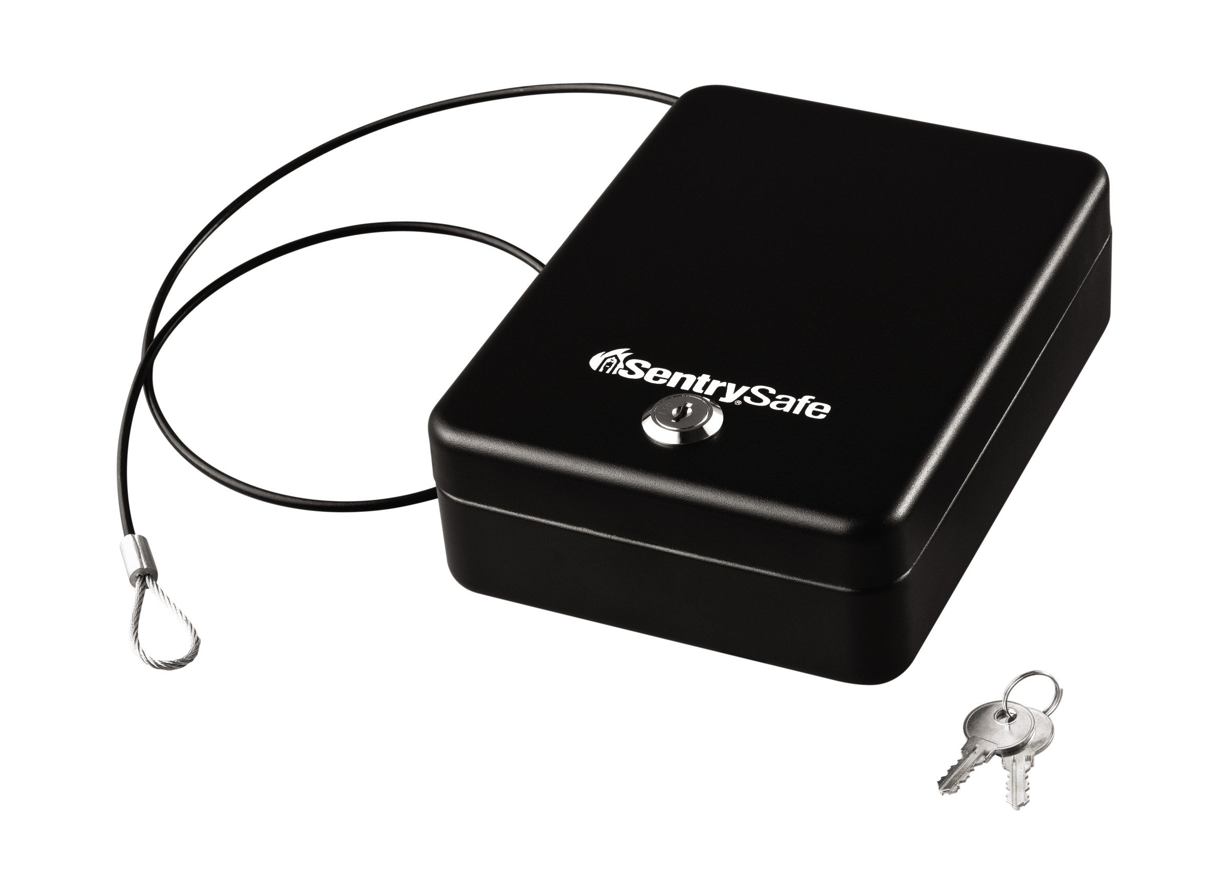 SentrySafe Compact Safe, Portable Security Safe with Key Lock, 0.05 Cubic Feet, P005K