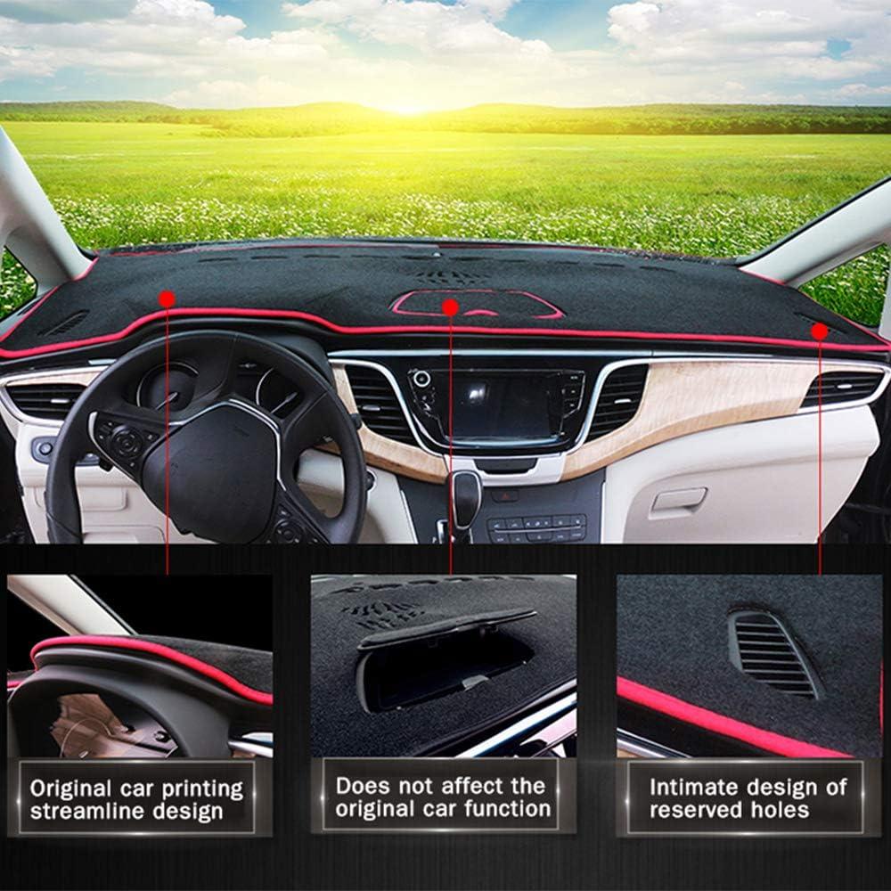Auto Armaturenbrett Matte F/ür Au di RSQ3 Sonnenschutz Auto Armaturenbrett vermeiden helle Auflage Abdeckungs Matte Schwarz Rot