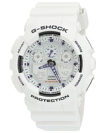 amazon com g shock ga100a 7a x large men s white resin sport g shock ga100a 7a x large men s white resin sport watch