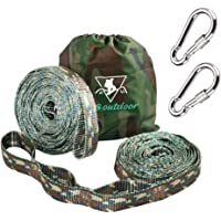 pys XL Hammock Straps - 10ft Camo Tree Straps, 20+1 Adjustable Loops, 2 Carabiners Included with 1000lbs Fit for Any Hammocks, Use Tree-Friendly for Adventure, Hiking and Backpacking (Camo,20+1)