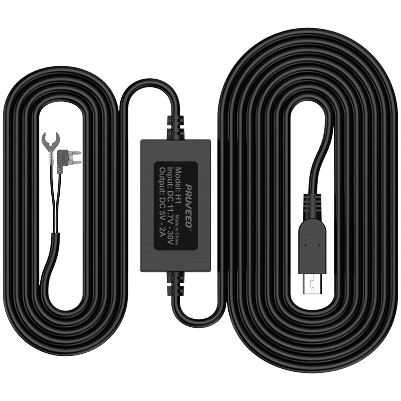 Amazon.com: Pruveeo Hard Wire Kit for Dash Cam, Mini USB Port, 12V ...