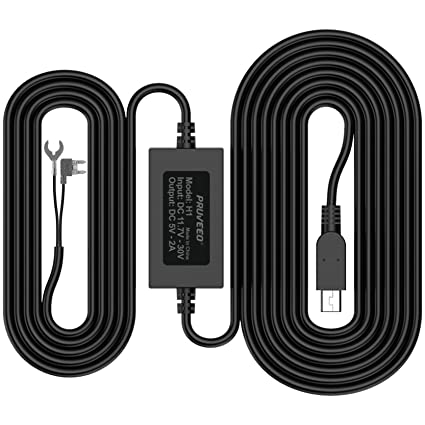 Amazon pruveeo hard wire kit for dash cam mini usb port 12v pruveeo hard wire kit for dash cam mini usb port 12v to 5v greentooth Image collections