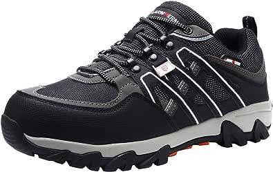 Zapatillas de Seguridad Hombre, LM-18 Zapatos de Seguridad Antideslizantes con Punta de Acero Antipinchazos Calzados de Trabajo: Amazon.es: Zapatos y complementos