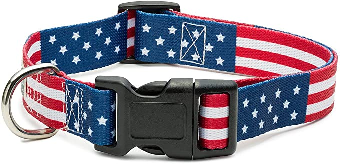 Dog Karma American Flag Collar