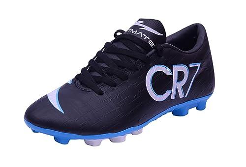 cda69d56caa Trady CR7 Juventus Ronaldo Studs Black   Blue Football Studs Shoes for Men s  ...