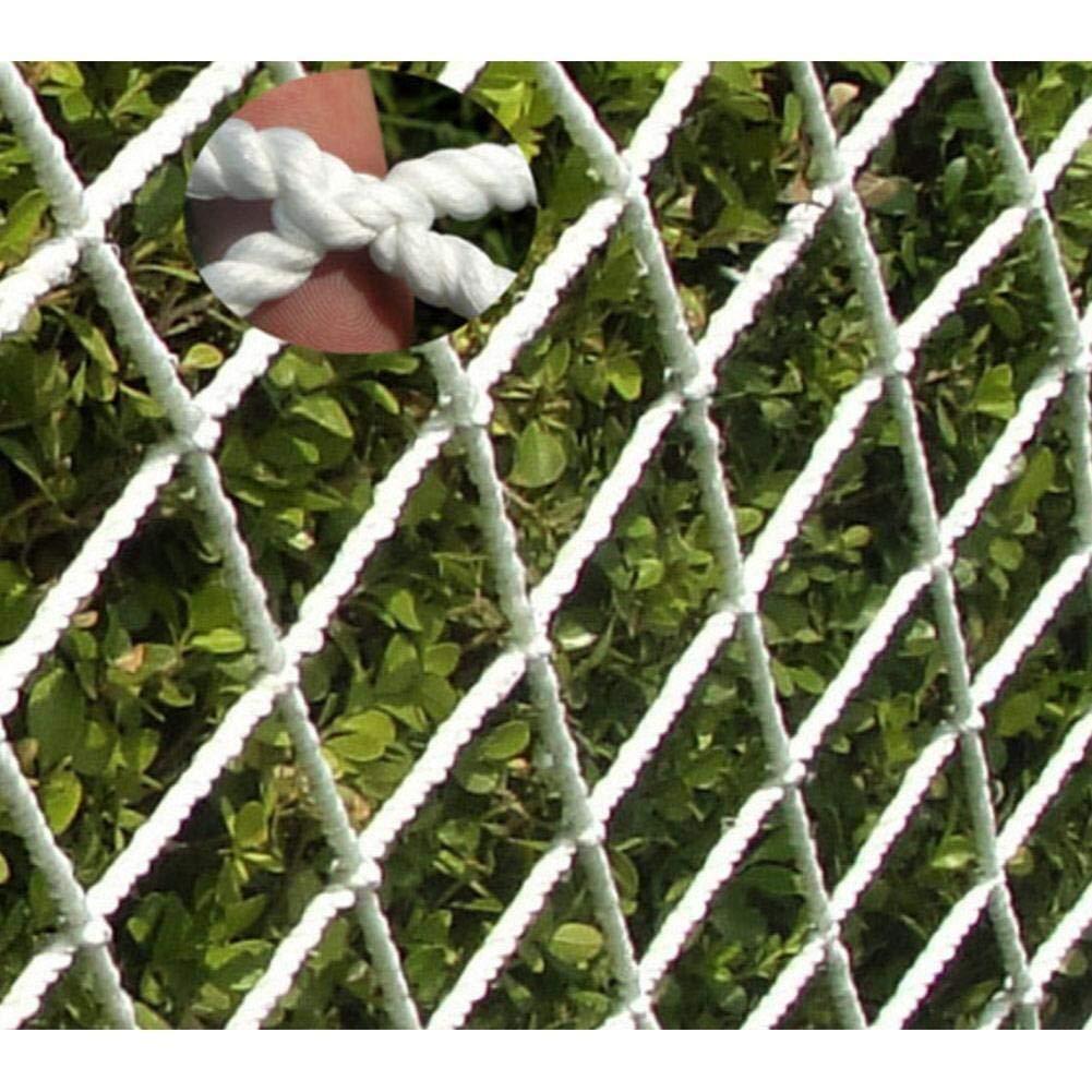 Engrener 5cm 19m Corde Blanche Filet Décoration Filet Filet De Sécurité, Escalier Balcon Filet Anti-chute Filet De Prougeection En Nylon Net Pour Escaliers, Balcon, Fenêtre, Plafond, Pont Suspendu, Clôture De Jardin 2x3