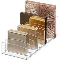 "InterDesign Clarity 12"" Bathroom Vanity Countertop Multi Level Organizer for Cosmetics, Makeup, Vitamins, Medicine - Clear, Various Style Palette Organizer"
