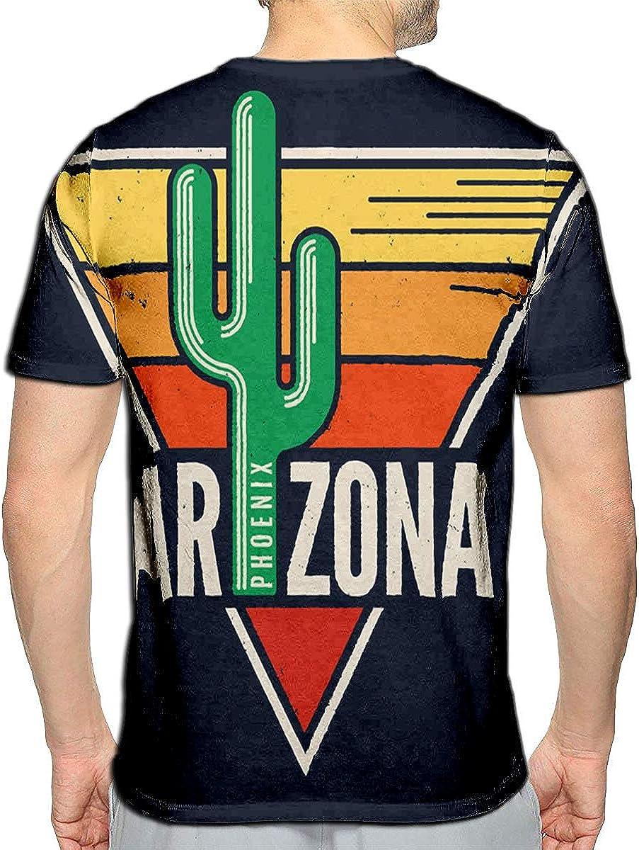 3D Printed T-Shirts Arizona Label Styled Sag Short Sleeve Tops Tees