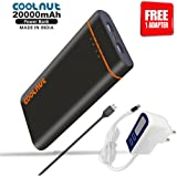 COOLNUT High Capacity Best Power Bank 20000mAh For iPhone, mi, Lenovo, Samsung, Xiaomi, All mobiles