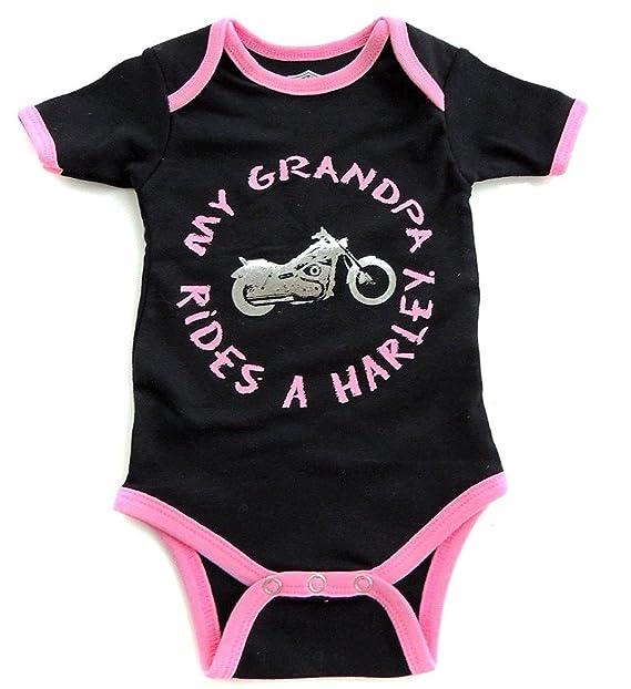 Harley Davidson Baby Clothes New Amazon Harley Davidson Baby Girls My Grandpa Rides BlackPink