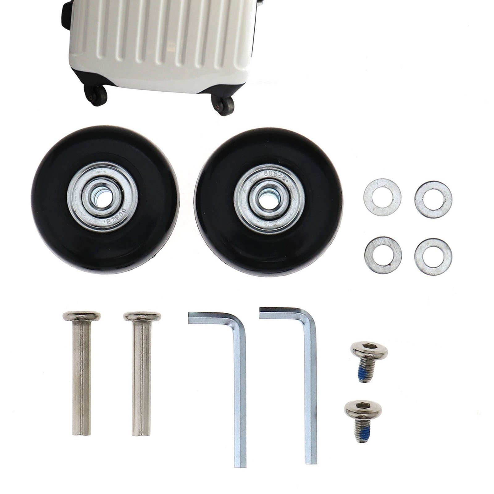 SING F LTD 1 Pair Luggage Suitcase Replacement Wheels Axles Rubber Deluxe Repair OD 45mm by SING F LTD