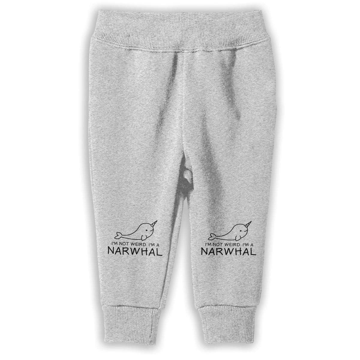 Printed Im Not Weird Im A Narwhal Child Boys /& Girls Unisex Fashion Sweatpants
