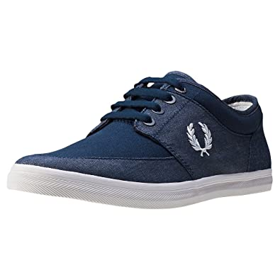 Baskets Fred Perry Stratford Canvas Carbon Blue kYP7MQ