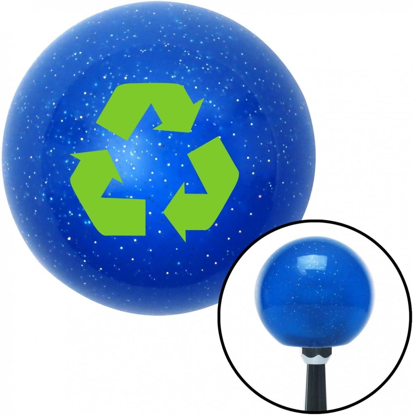 Green Recycle American Shifter 20994 Blue Metal Flake Shift Knob