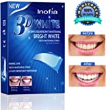 28PCS Teeth Whitening Strips - Inofia Dental Enamel Safe Teeth Bleaching Treatment for Crystal Smile Non-Peroxide Whitener Kit Professional Remover of Teeth Stain for Double Elastic Gel Mint Flavor (upgraded)