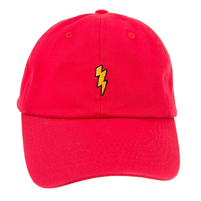 Armycrew Lightning Accent Embroidered Baseball Cap Dad Hat - RED at Amazon  Men s Clothing store  5334e50a3a1