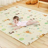 HAN-MM Baby Play mat Folding Baby Care XPE Playmat Foam Floor Slip Extra Large Foam Reversible Waterproof Portable Double Sides Kids Baby Toddler Outdoor or Indoor Use Non Toxic 78x57.x0.4in Deerlet2