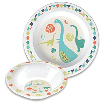Vital Baby Dinosaur Tableware Set  sc 1 st  Amazon UK : dinosaur dinnerware - pezcame.com