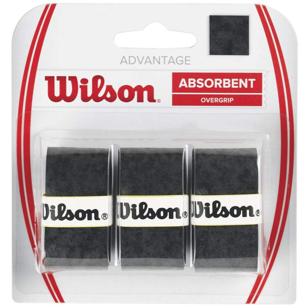 Wilson WRZ4033BK Advantage Overgrip Racquet Grips-Black Wilson- Racket Sports