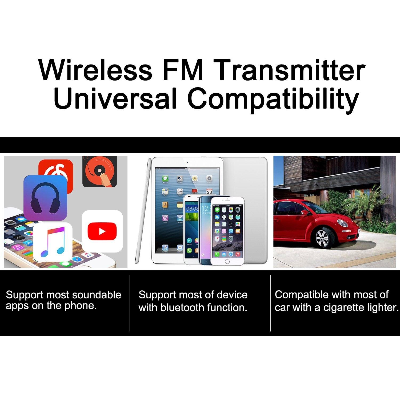 Bluetooth FM Transmitter LeFun Wireless In Car FM Modulator Car Kit