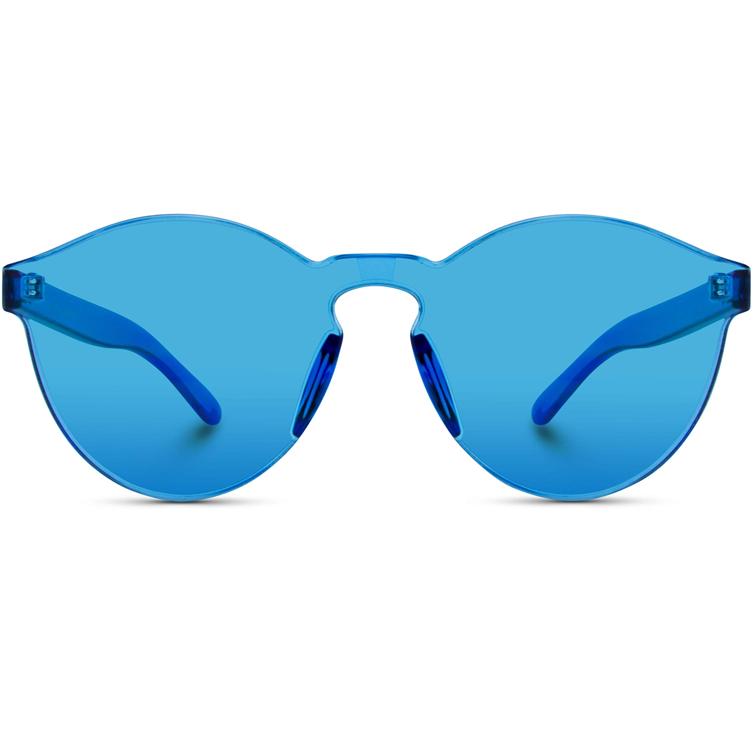 feab3fbefbb6 WearMe Pro - Colorful One Piece Transparent Round Super Retro Sunglasses  product image