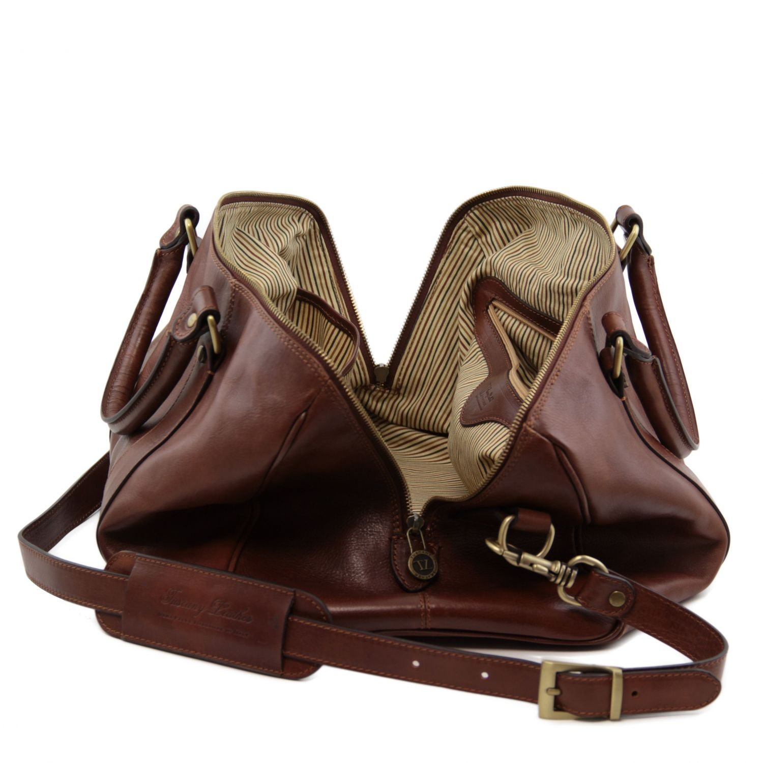 Small size Honey Tuscany Leather TL Voyager Travel leather duffle bag