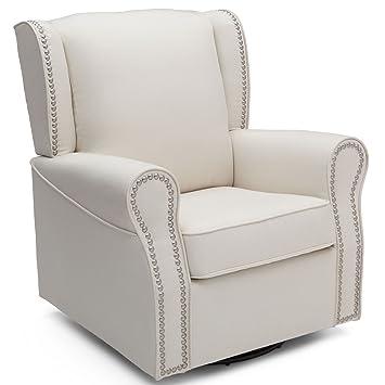 Gentil Delta Children Middleton Upholstered Glider Swivel Rocker Chair, Cream