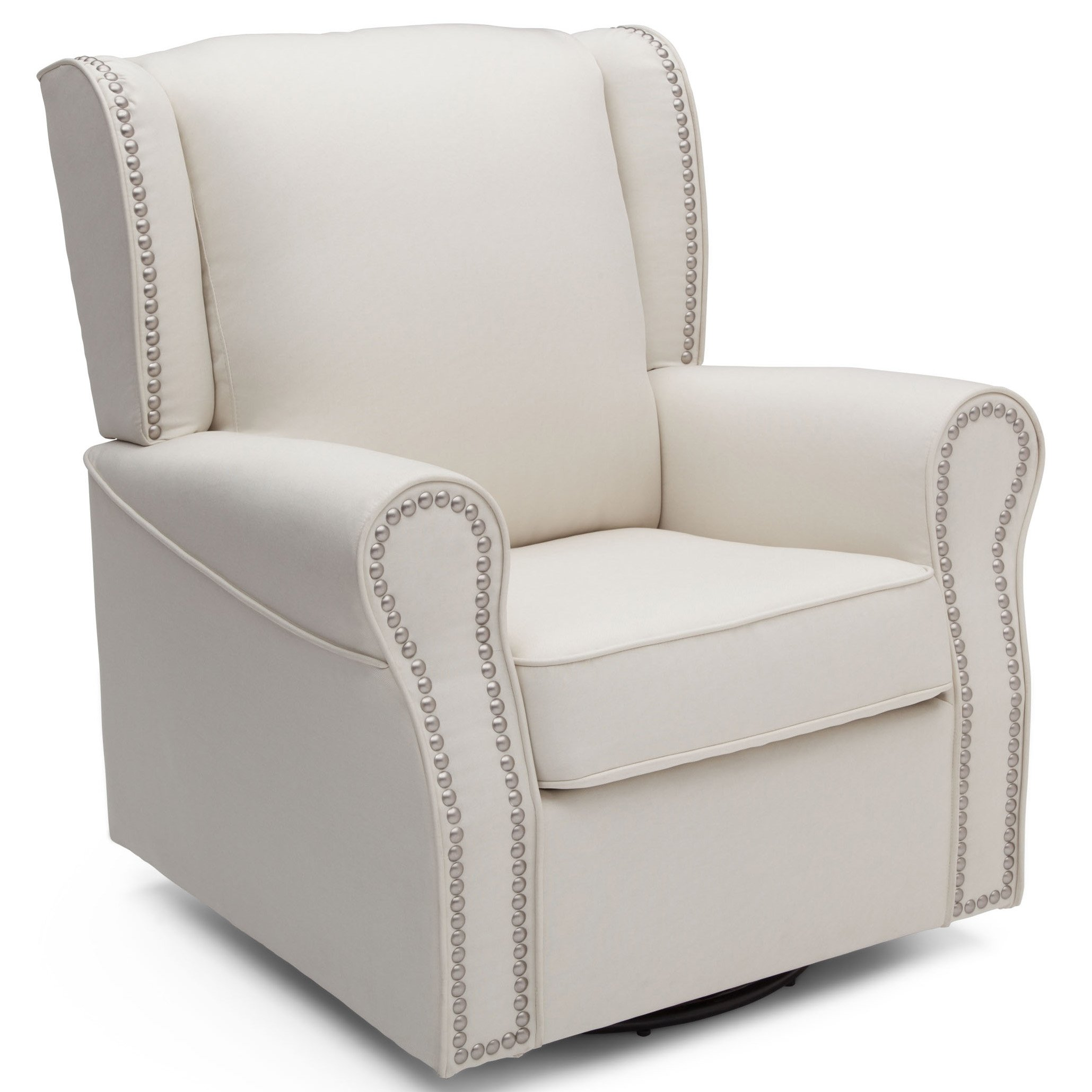 Amazon com delta children middleton upholstered glider swivel rocker chair cream baby