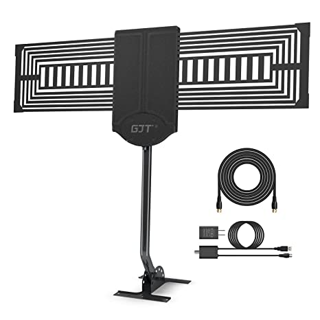 GJT Outdoor TV Antenna 150 Miles Range High Reception Digital HDTV Attic/Roof Antenna with  sc 1 st  Amazon.com : attic or roof antenna  - Aeropaca.Org