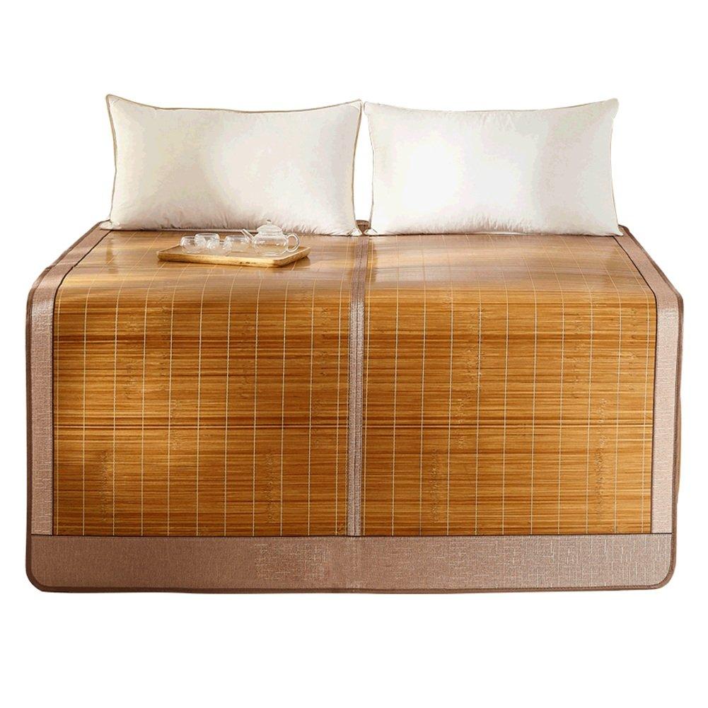 WENZHE Bambus Matratzen Sommer-Schlafmatten Strohmatte Teppiche Zusammenklappbar Doppelseitige Verwendung Schlafsaal Zuhause Shuimo Abschnitt Multifunktion, 0.9/1.2/1.5/1.8m (größe : 1.5 × 1.95m)