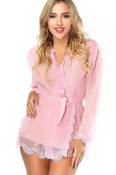 369202ad26a7 LadyMoon Conjunto Lencería Mujer Erotica Pijama Enteros Mujer Ropa Interior  Mujer Sexy Conjuntos Body Encaje Mujer Vestido Sexy Negro Vestidos De ...