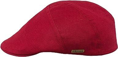 Sterkowski - Gorra de 5 Paneles de Lino Transpirable Rojo Rosso 7 ...
