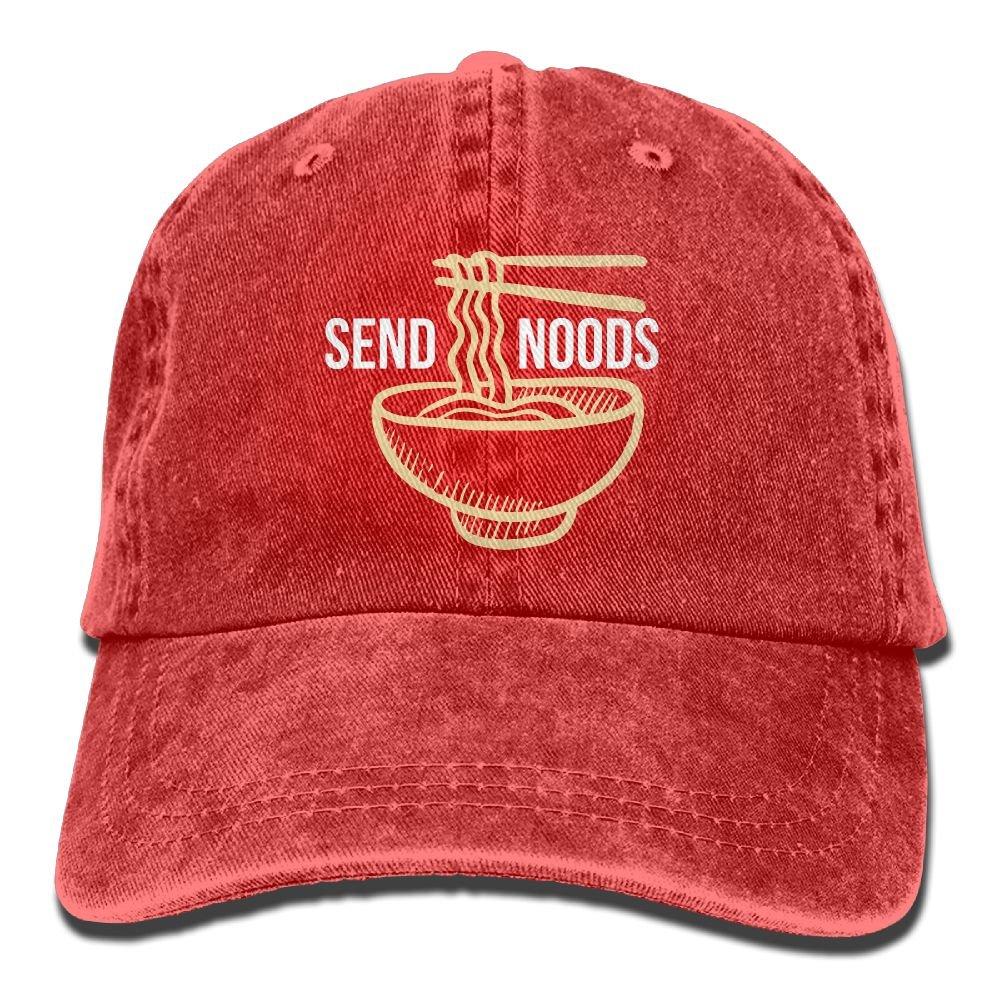 Send Noods Ramen Noodles Plain Adjustable Cowboy Cap Denim Hat for Women  and Men at Amazon Men s Clothing store  607eb9838ab
