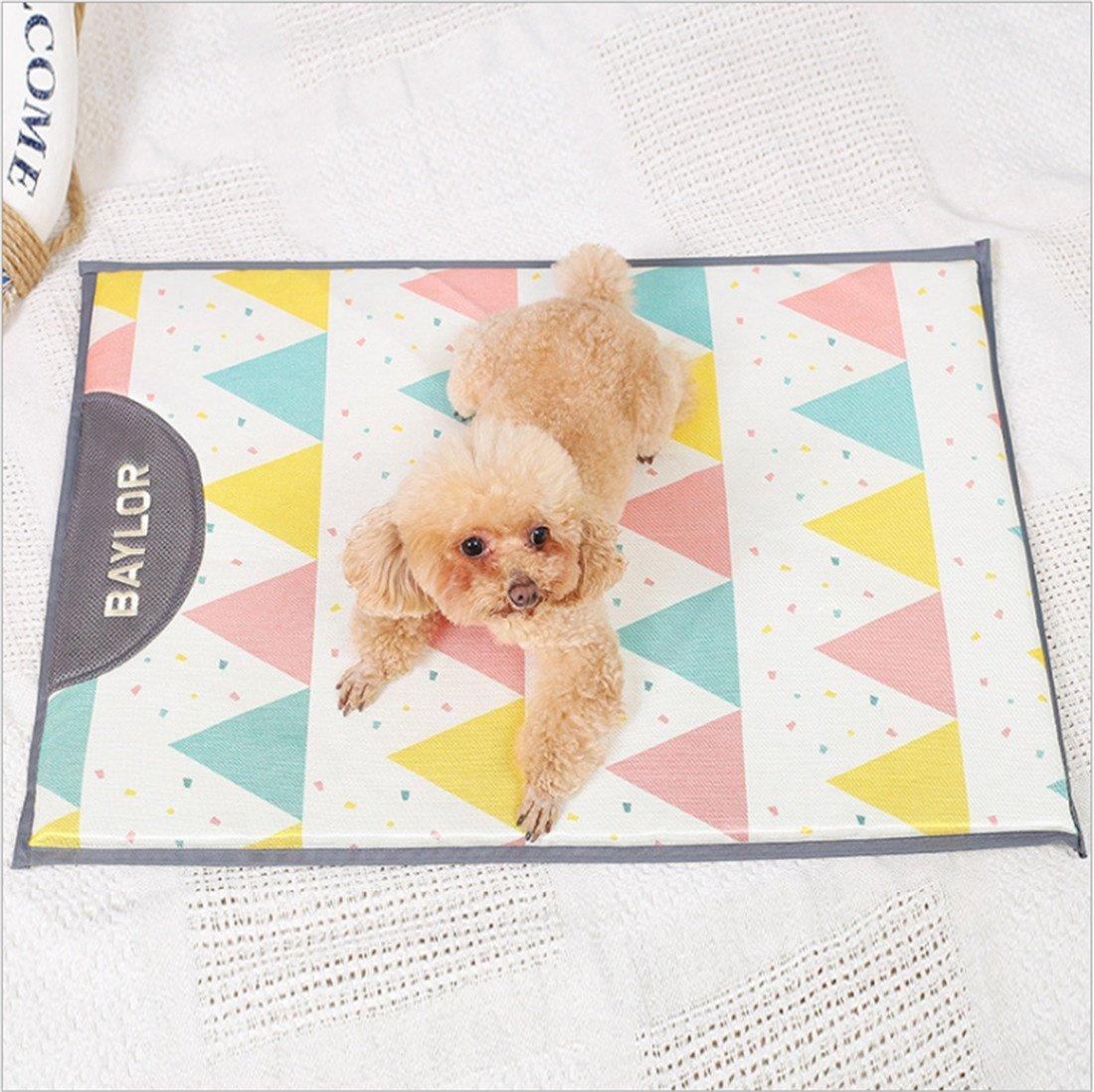 CHWWO Ice Silk pet Mattress Cool Summer Breathable Kennel Cushion Washable Non-Slip Sleeping pad 60  43cm
