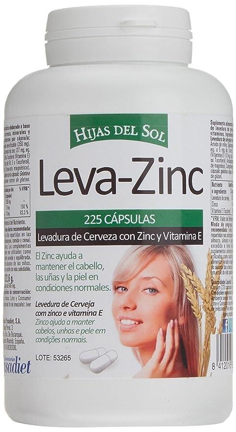 LEVA ZINC Complemento alimenticio de zinc, levadura de cerveza y vitamina E para ayudar a