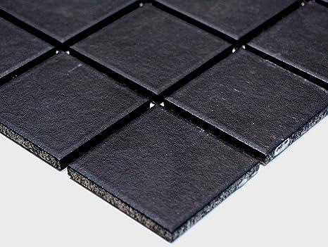 Rete mosaico mosaico piastrelle quadrati uni nero antiscivolo r