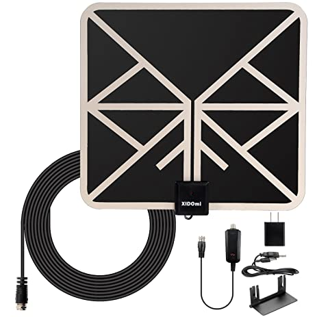 TV Antenna HD Antennas Indoor Digital Amplified - 50 Miles Range HDTV Antenna with Stand -