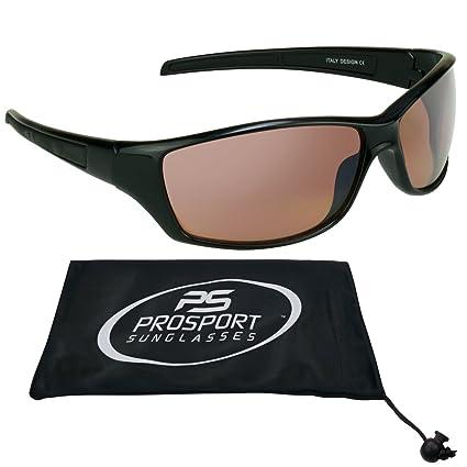 13ae840550b1c HD Blue Blocker Sunglasses with High Definition lenses black frame for golf