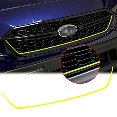 Xotic Tech Front Grille Pinstripe Vinyl Sticker Fluorescent Yellow for Subaru WRX STI 2015-2020, Styling Pre-Cut Front Hood Panel Edge Moulding Decal Trim: Automotive