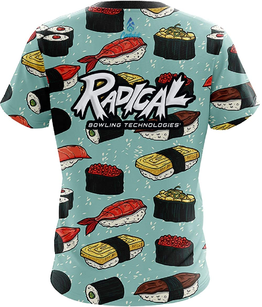 CoolWick Mens Radical Sushi Bowling Jersey