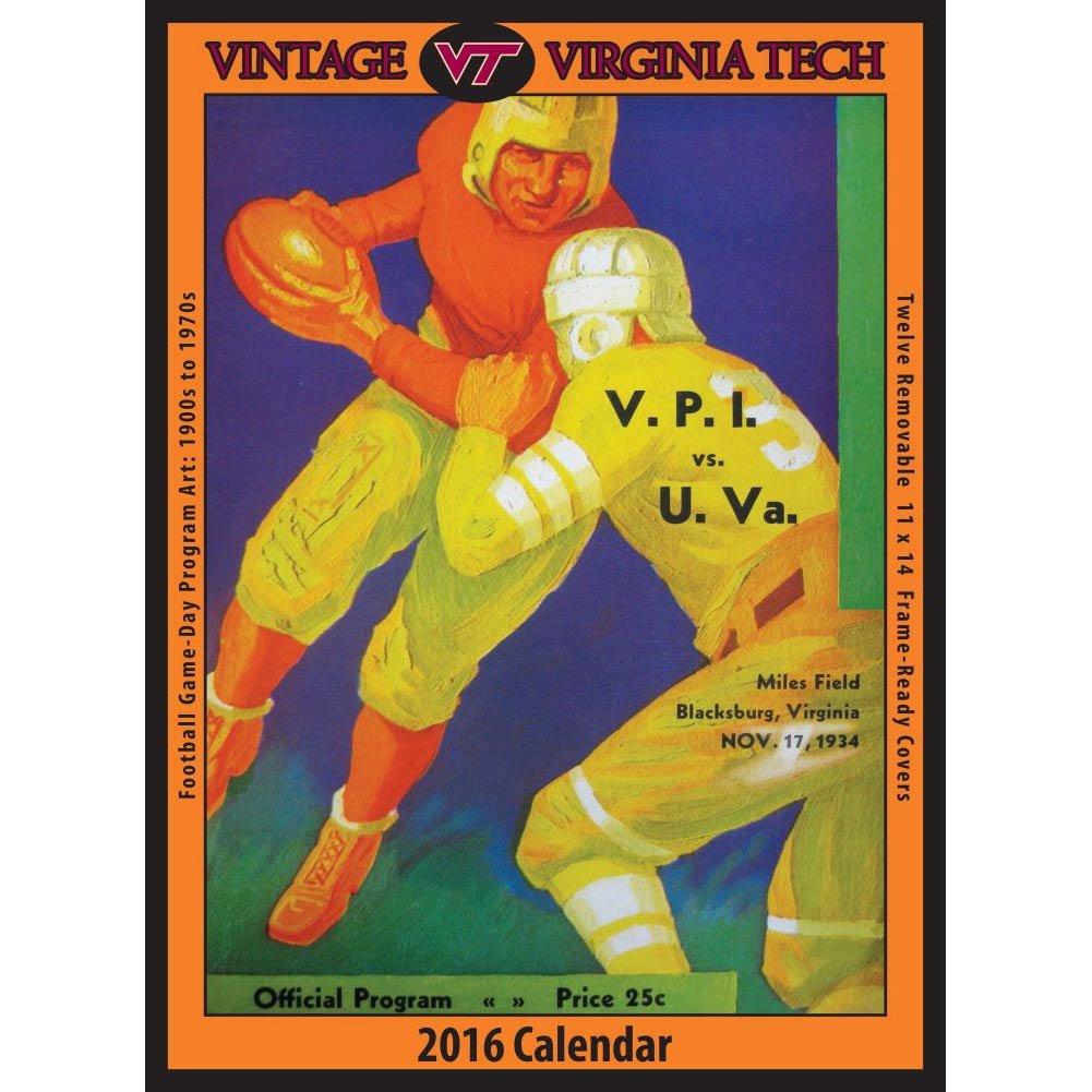 Amazon.com : Vintage Virginia Tech Hokies Football Poster Calendar ...