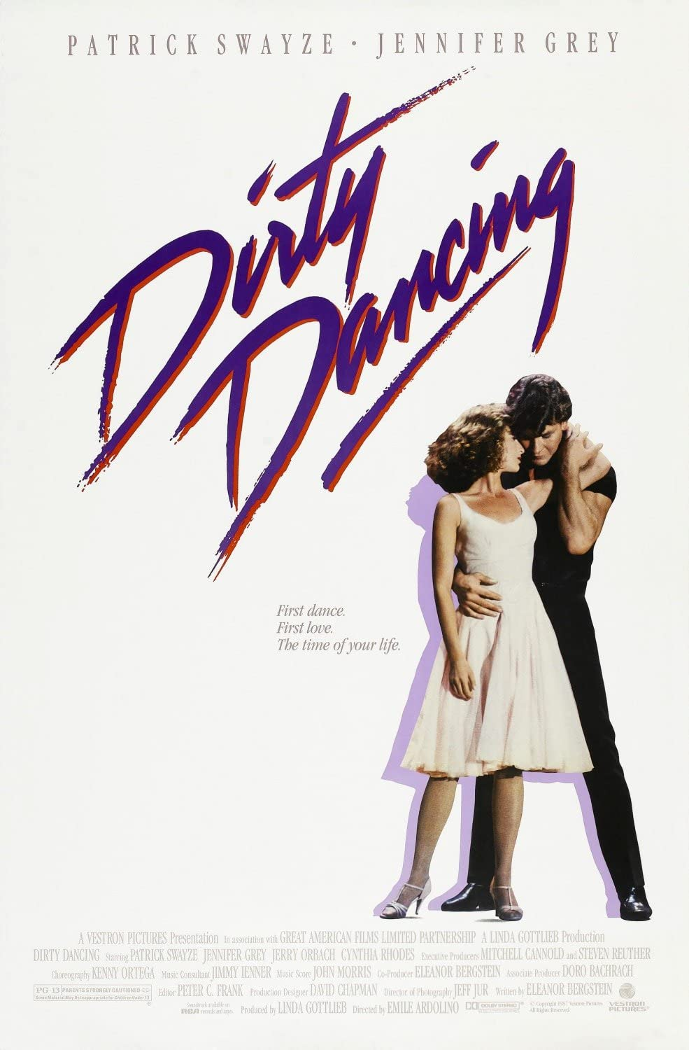 Amazon.com: MCPosters Dirty Dancing Patrick Swayze GLOSSY FINISH ...