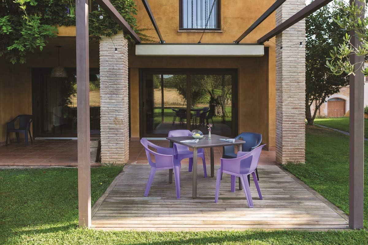 resol Mesa de jardín Exterior Cuadrada Noa 90x90 - Color Tablero ...