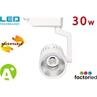 FactorLED Foco LED 30w ROMA WHITE para carril