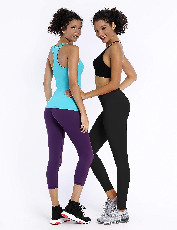 BUBBLELIME 2 Styles 25//26//27//28 Basic//5.5 Super High Waist Yoga Pants Running Workout Leggings Tummy Control