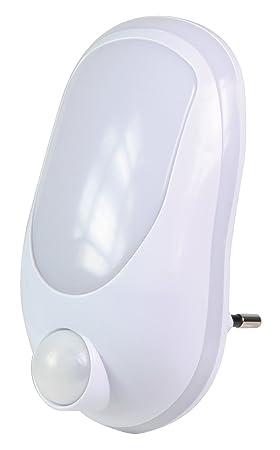 Premium Luz nocturna LED Lámpara enchufe enchufe Proyección Noche Luz Niños + Sensor de movimiento detector