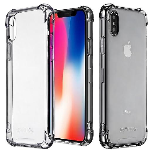 15 opinioni per Cover iPhone X, Cover iPhone 10, Custodia Jenuos Trasparente Antiurto Paraurti
