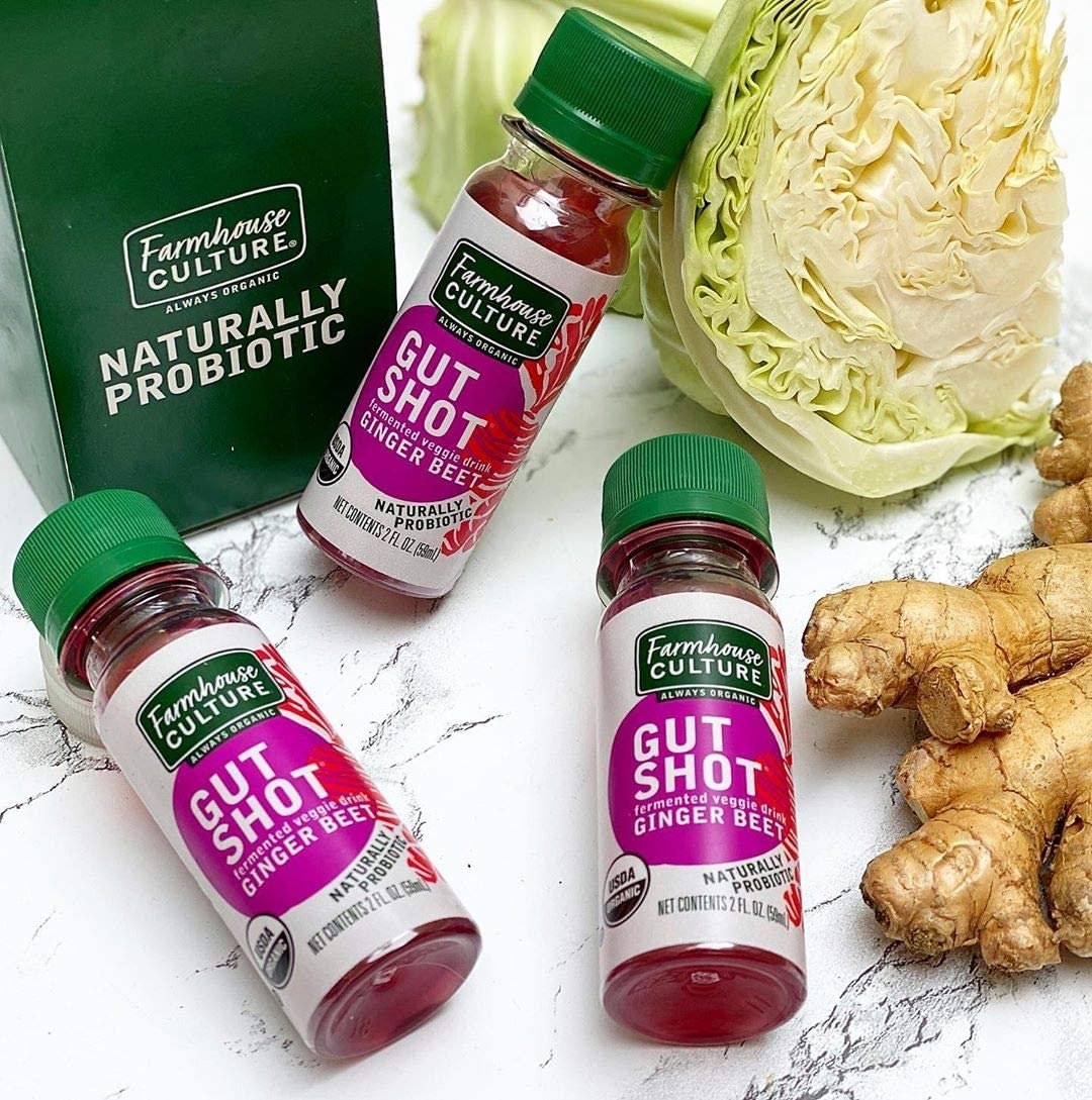 Amazon Com Live Probiotic Ginger Shots Immunity Boost Gut Health Organic Fermented 24 Pack Ginger Beet Gut Shot By Farmhouse Culture Health Personal Care